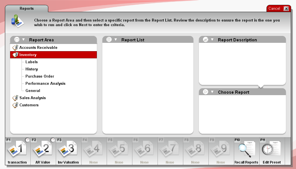 Screenshot showing button for new preset on bottom ribbon